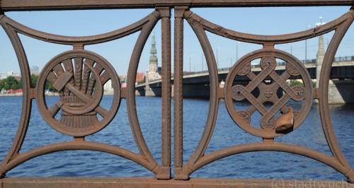 Riga Daugava alte Symbole UdSSR