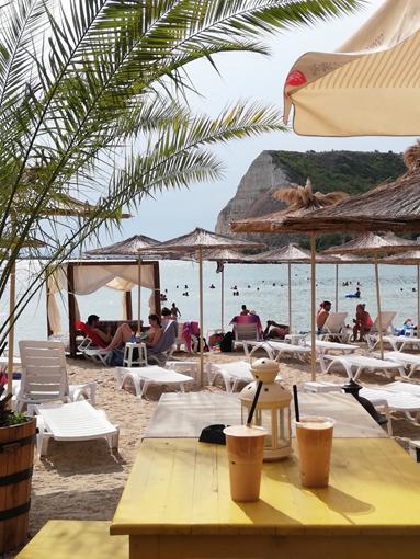 Strand am Schwarzen Meer Reisetipp Bulgarien Küste Varna Kawarna nicht am Goldstrand